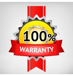 Warranty elements vector image