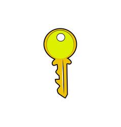 color sketch key vector image vector image
