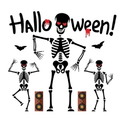 Dancing skeletons Cartoon vector image