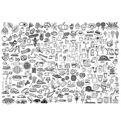 Food and drinks doodle vector image