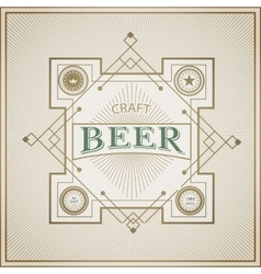 Good craft beer brewery vintage label vector image vector image