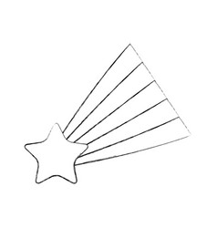 shooting star isolated icon vector image