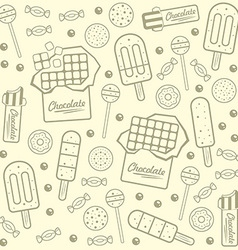 Sweet seamless background vector image vector image