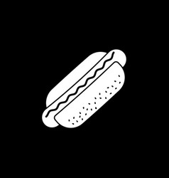 hot dog solid icon food drink elements vector image