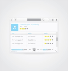 Music Player With Playlist vector image