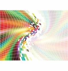 rainbow mosaic vector image vector image