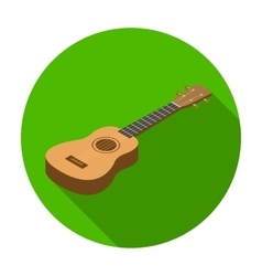 Acoustic bass guitar icon in flat style isolated vector image vector image