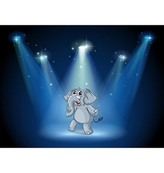 An elephant dancing in the middle of the stage vector image vector image