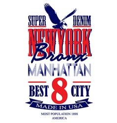newyorkNewyork poster graphic design vector image