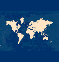 paper cut world map grunge texture vector image