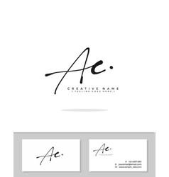 A c ac initial logo signature handwriting vector