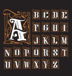 A to z art nouveau typologo 4000px vector