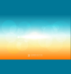 abstract blurred sky sunlight summer with nature vector image