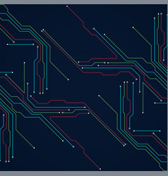 Abstract technology circuit board communication vector