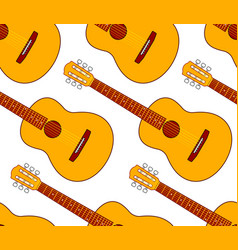 acoustic guitar pattern vector image