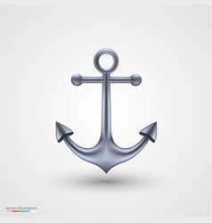 anchor on a white background vector image