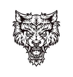 Angry werewolf head vector