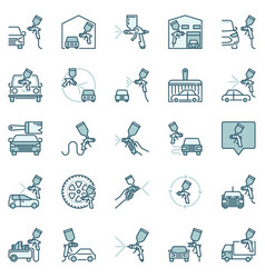 auto body painting creative icons vector image