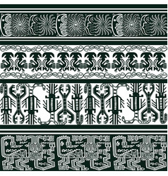 Background with peruvian patterns vector
