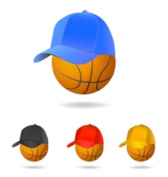 basketball mascot vector image