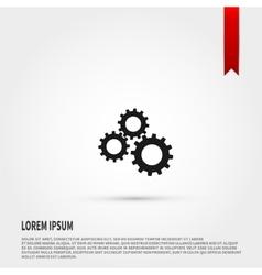 Black gears icon design vector image