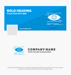 blue business logo template for attention eye vector image