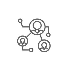 Business connection outline icon elements of vector