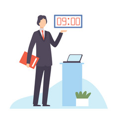 businessman planning and controlling his working vector image