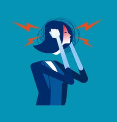 Businesswoman with headache concept business vector