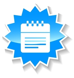 Calendar blue icon vector