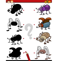 cartoon educational shadows task vector image