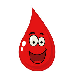 Cartoon of a blood drop vector