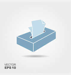 cartoon tissue box vector image
