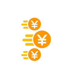 Chinese yuan payments money transfer icon vector