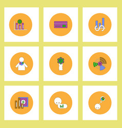 Collection of icons in flat style business vector