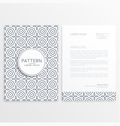 Company leaflet template with pattern shapes vector