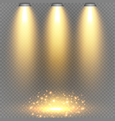 concert lighting stage spotlights set vector image