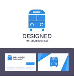 Creative business card and logo template auto bus vector
