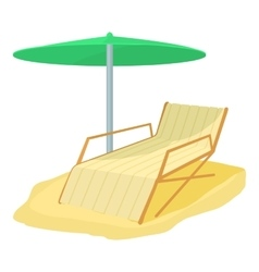 Deck chair icon cartoon style vector