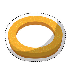 delicious bread roll bakery product vector image