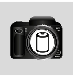 Digital photo camera negative roll vector
