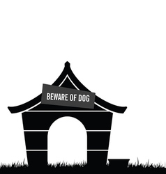 dog house black vector image