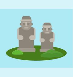 Dolharubang statues traditional symbol jeju vector