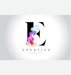 E vibrant creative leter logo design vector
