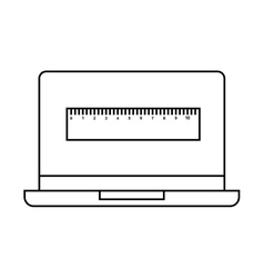 Electronic learning with laptop vector