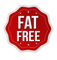 fat free label or sticker vector image