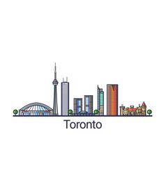 flat line toronto banner vector image