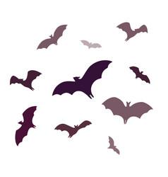 Flying bats a group cartoon cave bats isolated vector