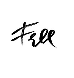 free hand drawn dry brush lettering ink vector image