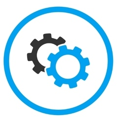 Gears Rounded Icon vector image